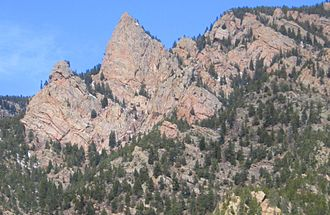 Wet Mountains - Granite rock formation in the Wet Mountains.