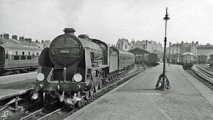 Weymouth railway station - Express to Waterloo in 1960