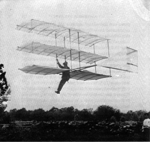 Whitehead in his Glider 1