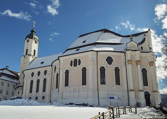 Wieskirche in winter