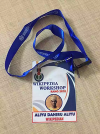 Wikipedia Kano Workshop Nametag.webp