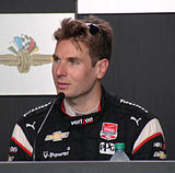 Dario Franchitti (left) won his fourth Drivers' Championship (third straight title) while Will Power (right) finished second in the championship for the second consecutive season.
