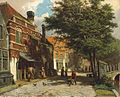 Willem Koekkoek - Dutch town in the summer 10426.jpg