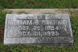 William G. Stewart (Louisiana) - Stewart gravestone at Minden Cemetery
