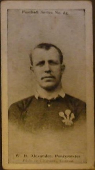 William Henry Williams (rugby player) - Williams in Welsh jersey