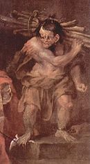 Caliban peint par William Hogarth