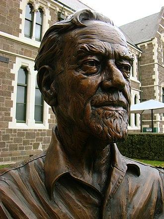 Bill Sutton (artist) - Bronze bust of Bill Sutton as part of the Twelve Local Heroes sculpture
