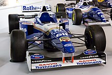 Photo de la Williams FW18 de Damon Hill exposée au musée Donington Grand Prix Collection