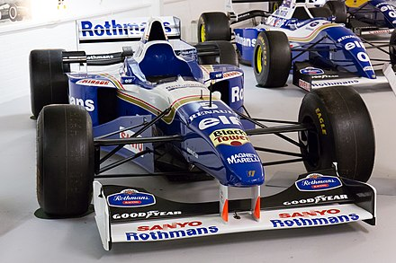 La Williams FW18 de Damon Hill exposée au musée Donington Grand Prix Collection.