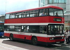 Wilts & Dorset - Leyland Olympian in Southampton in September 2008