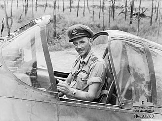 CAC Boomerang - Pilot in the cockpit of a CAC Boomerang fighter