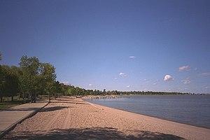 English: Winnipeg Beach on Lake Winnipeg in Ma...