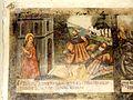 Wissous (91), église Saint-Denis, bas-côté, fresque de sainte Barbe, 1er tableau.jpg