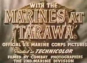 With the Marines at Tarawa - Title screen