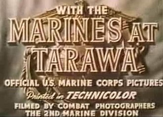 With the Marines at Tarawa - Title screen