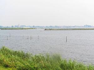 Wolderwijd - Wolderwijd as seen from Flevoland looking towards Harderwijk