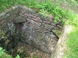 Trapping pit - Pit for hunting wolves, near Hohenwart, Bavaria, Germany