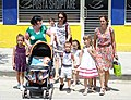 Women and Children Crossing Street - New Town - Berat - Albania (42466461362).jpg