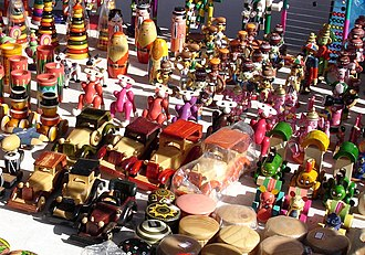Toy - A variety of traditional wooden Channapatna toys from India