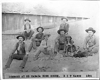 XIT Ranch - Cowboys at the XIT Ranch in 1891