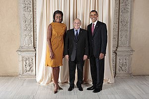Andorra–United States relations - Andorran Minister of External Affairs Xavier Espot Miro with President Barack Obama; 2009.