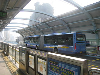 Bus rapid transit - Elevated BRT system in Xiamen