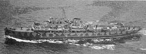 William Boyce Thompson - The yacht Alder after being converted to USS Jamestown (PG-55) in 1941. Photo c. 1943.