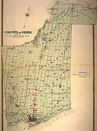 York County, Ontario - Image: York County Ontario 1880s