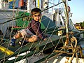 Young Boy Plays on Gangplank - La Boca - Buenos Aires - Argentina.jpg