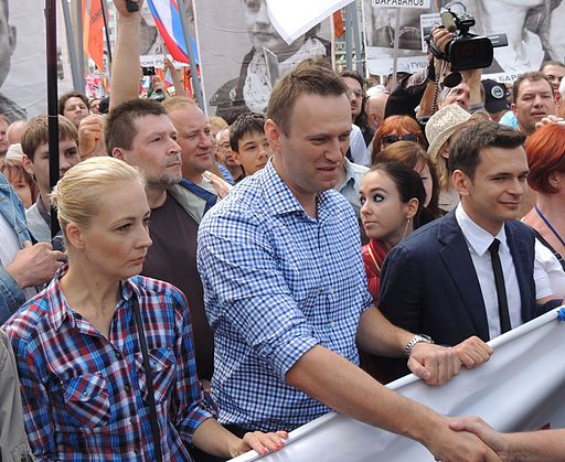 Yulia Navalny, Alexey Navalny and Ilya Yashin at Moscow rally 2013-06-12