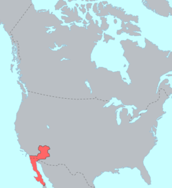 Area of Yuman–Cochimí influence