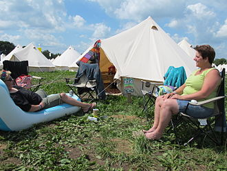 Glamping - Glamping at the music festival Zwarte Cross in the Netherlands