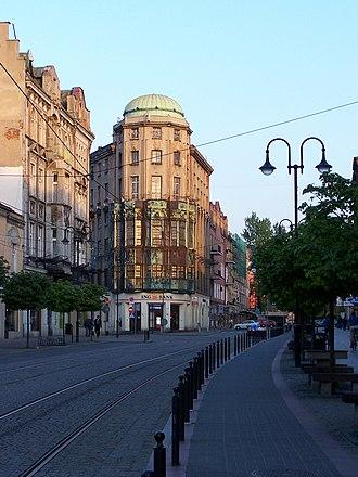 Zabrze - Wolności Street in Zabrze