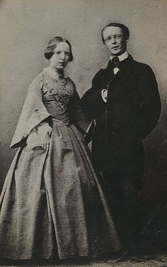 Conrad Ferdinand Meyer - Conrad Ferdinand Meyer with his younger sister Betsy, around 1855