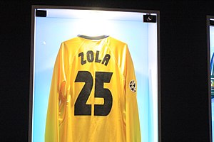 Gianfranco Zola - Zola's No.25 Chelsea shirt, on display at the club museum