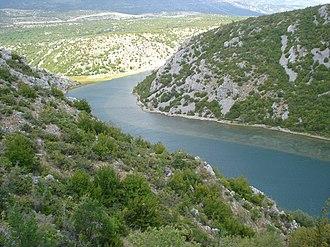 Zrmanja - Zrmanja upstream from Obrovac