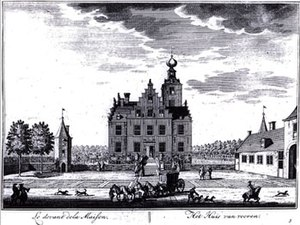 Frederick Nassau de Zuylestein - Castle Zuylestein in 1650, later destroyed by bomb attack during World War II.