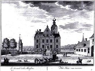 Frederick Nassau de Zuylestein - Castle Zuylestein in 1650, later destroyed by bomb attack during World War II.