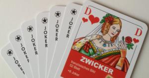 Zwickern - Zwicker cards
