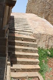 """Amazing Stone steps in the Hall Of Hundred Pillared Mandapam Or Car""..JPG"