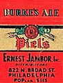 """BURKE'S ALE"" ""Piel's"" art detail, 1935 - Horlacher Brewery - Matchcover - Allentown PA (cropped).jpg"