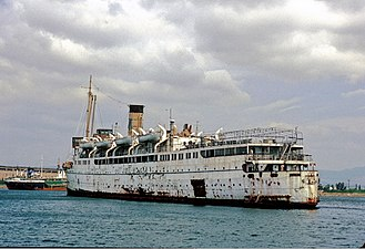 SS Taroona - Hellas laid up in Eleusis, July 7, 1986.