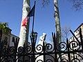 """""""La Douleur"""". Statue sculptée par Aristide Maillol, sur le socle du Monument aux Morts de Céret.jpg"""