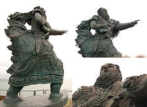Brendan - Statue of Brendan at Fenit Harbour.