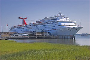 Fantasy-class cruise ship - Image: 'Carnival Fantasy' Docked at Charleston (SC) July 2012