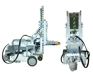 Lego Mindstorms NXT - Model Forklift Constructed using the Lego Mindstorms NXT 2.0