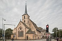 Église Saint-Nicolas de Strasbourg from Quai Saint-Nicolas.jpg