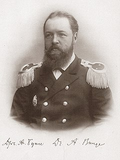 Baltic German-Russian physician, zoologist and Arctic explorer (1851–1930)
