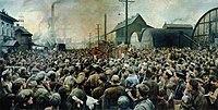 Выступление В.И.Ленина на митинге рабочих Путиловского завода в мае 1917 года (1929).jpg