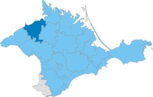 Rozdolne Raion - Image: Карта схема Крыма Раздольненский район